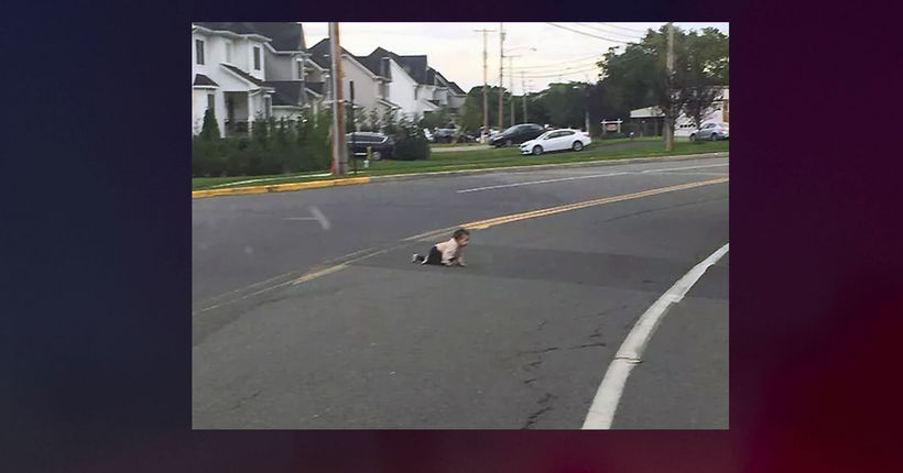 Driver finds baby crawling across busy N.J. road; child unharmed
