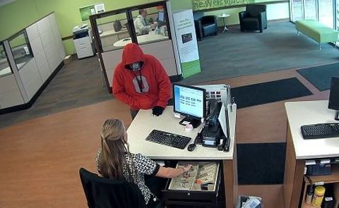 Man wearing skull mask rides bicycle to rob Ohio bank