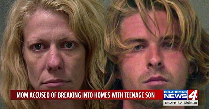 Mom accused of bringing teen son along on burglary crime spree