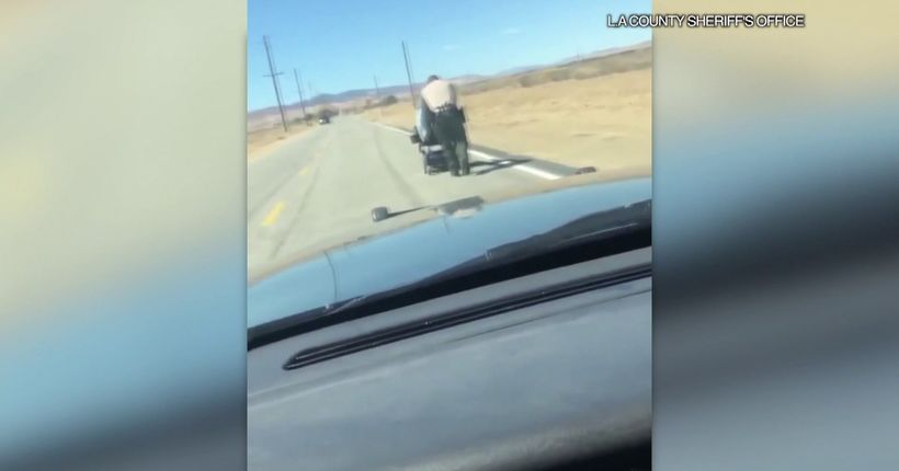Deputy pushes woman a mile to Lancaster home after motorized wheelchair stalls on road
