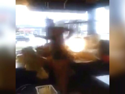 Man without pants falls through ceiling of Alabama Waffle House