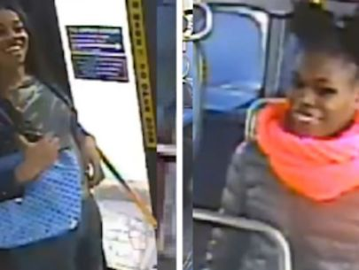 Grinning thieves pour liquid on Bronx bus rider's head, steal purse
