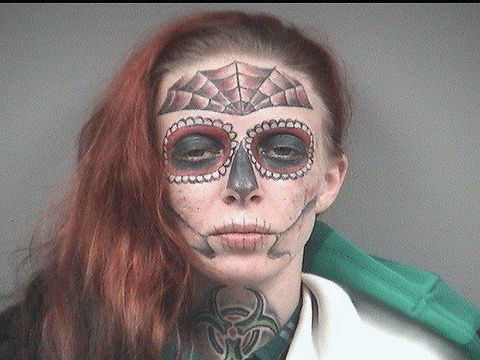 Woman with memorable mugshot arrested again in Ohio