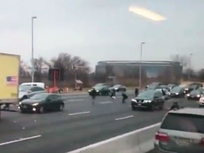 Armored truck spills cash onto N.J. highway, causing crashes, chaos