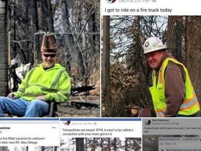 3 workers fired over 'reprehensible' photos from Camp Fire burn zone