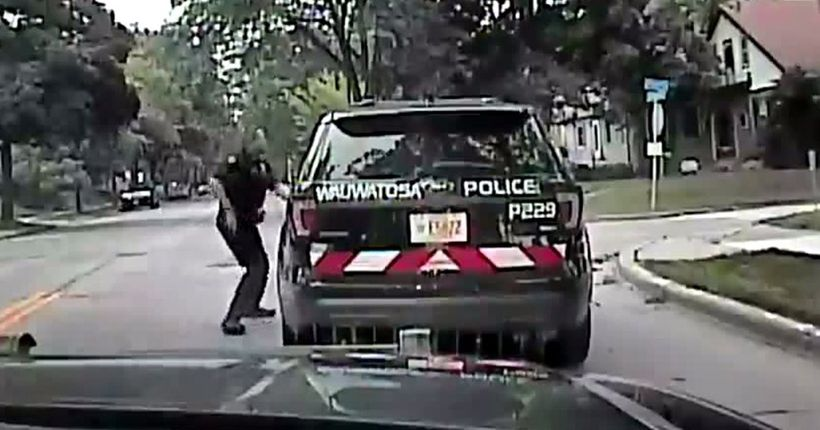 Milwaukee area police release dashcam video of woman driving off with squad car