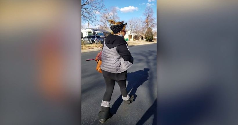 Woman chases down 'porch pirate' caught on camera: 'You [----]ed with the wrong person!'