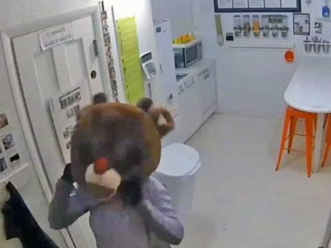 Female suspect wears Rudolph the Red-Nosed Reindeer costume in burglary