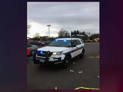 Armed bystanders shoot at shoplifters, disabling their vehicle