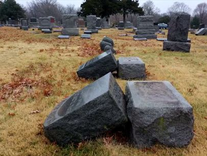Headstones vandalized at Kansas cemetery for families to find on Christmas