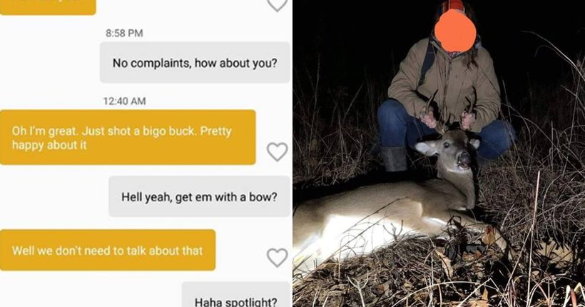 Woman fined after bragging about poaching deer to game warden on dating app