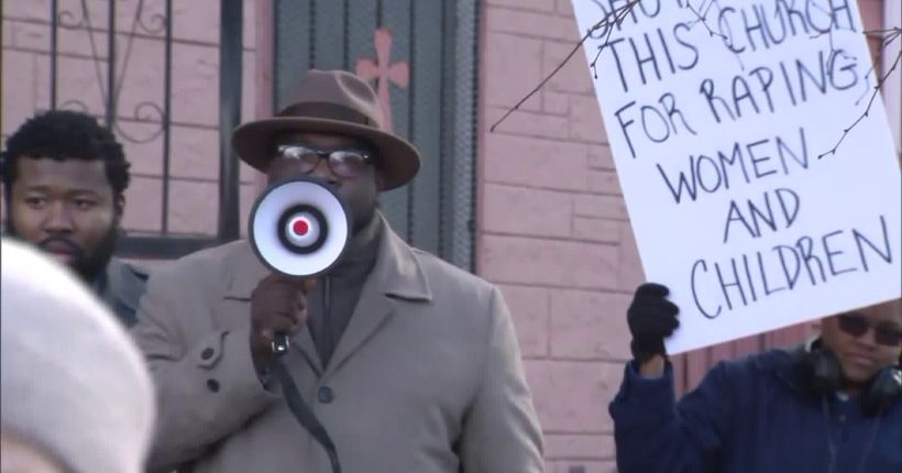 Community protests church after son of pastor charged with sex abuse, incest