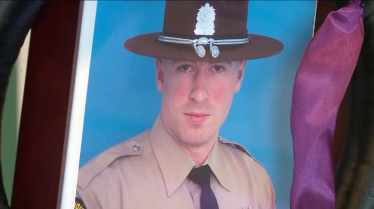 State police mourn loss of trooper killed after stopping to help accident victims
