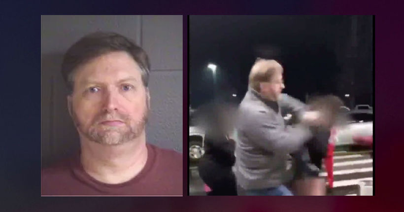 Man charged after being filmed punching 11-year-old girl outside North Carolina mall