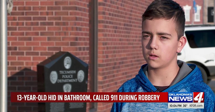 'I felt like I was going to get killed': 13-year-old foils armed robbery at Oklahoma store