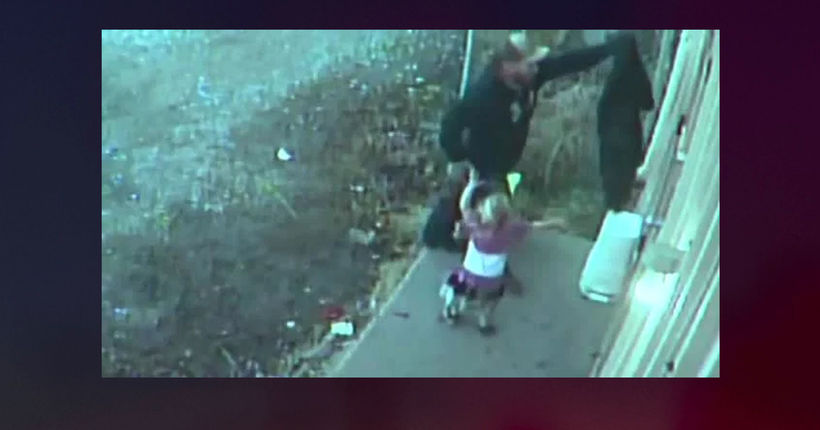 'It just broke my heart': Man caught on video burglarizing flower shop with toddler in tow