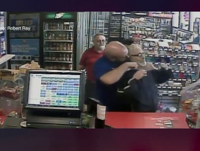 Clerk puts robbery suspect in chokehold during crime spree