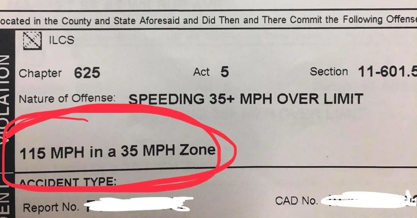 Woman arrested driving 115 mph through snow in 35 mph zone