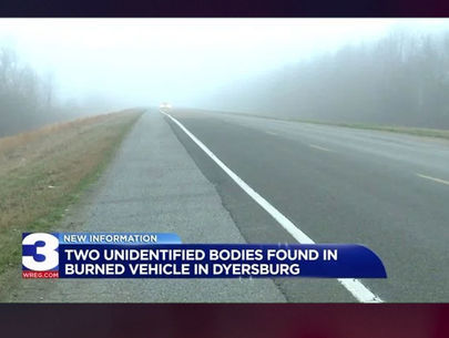 Two unidentified bodies found in burned car in Tennessee