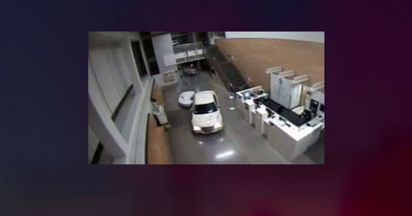 Driver with baby in car crashes into lobby of LAPD station
