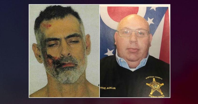 Ohio man allegedly set sheriff's deputy on fire as felony warrants were served