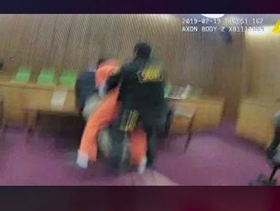 VIDEO: Man sucker-punches defense attorney after being sentenced in court