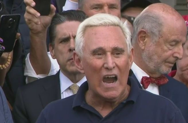 Roger Stone faces judge after posting her image with crosshairs