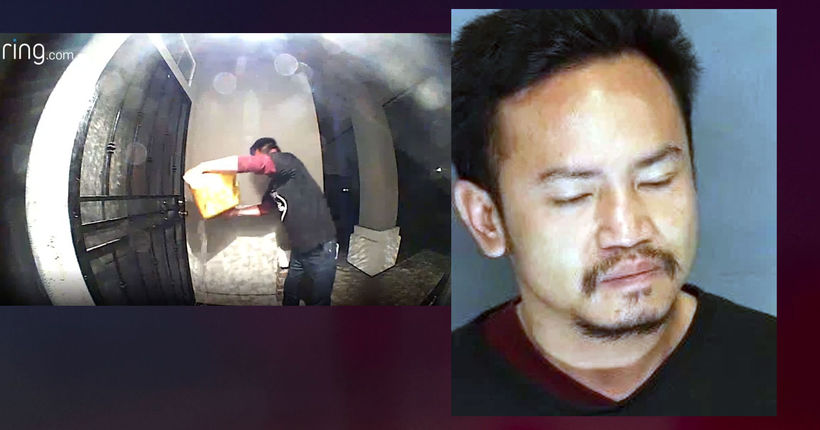 California man caught on camera pouring diesel fuel on neighbor's doorstep, trying to ignite