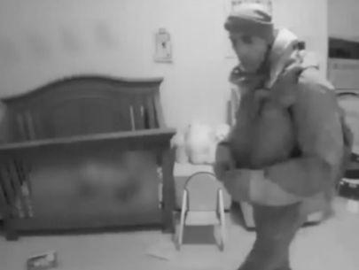 VIDEO: Burglar breaks into sleeping baby's room in the Bronx