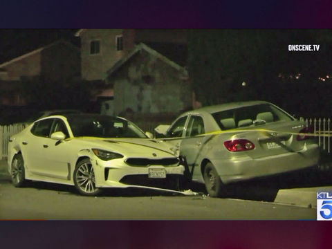 Pregnant woman stabbed 10 times in carjacking outside L.A. home