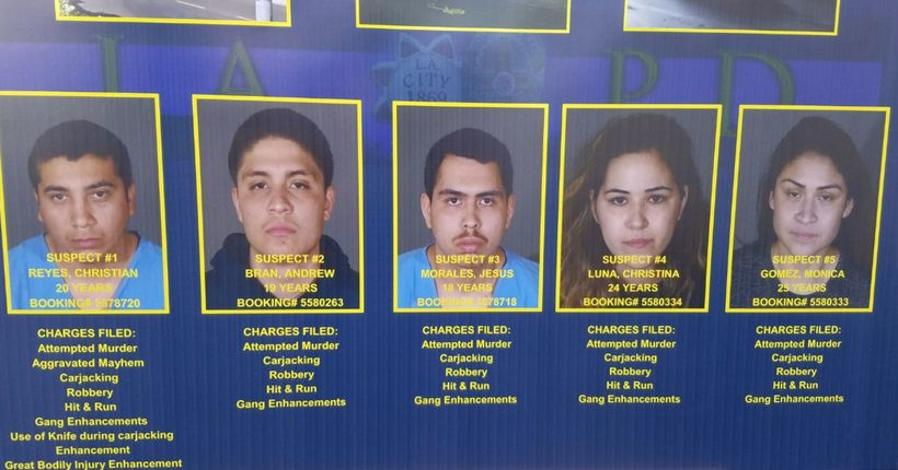 LAPD releases pics of suspects in carjacking, stabbing of pregnant teacher