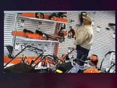 California shoplifter hides chainsaw in his pants