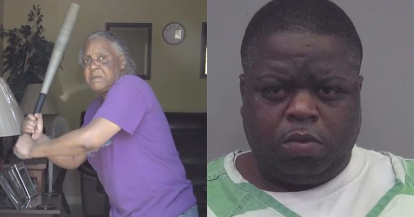 Woman fends off 300-pound, half-naked burglary suspect with bat