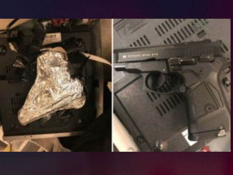 TSA find concealed gun inside DVD player at JFK Airport, N.Y. man arrested