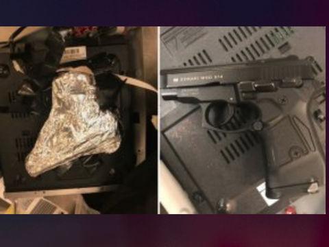 TSA find concealed gun inside DVD player at JFK Airport, N.Y. man arrested