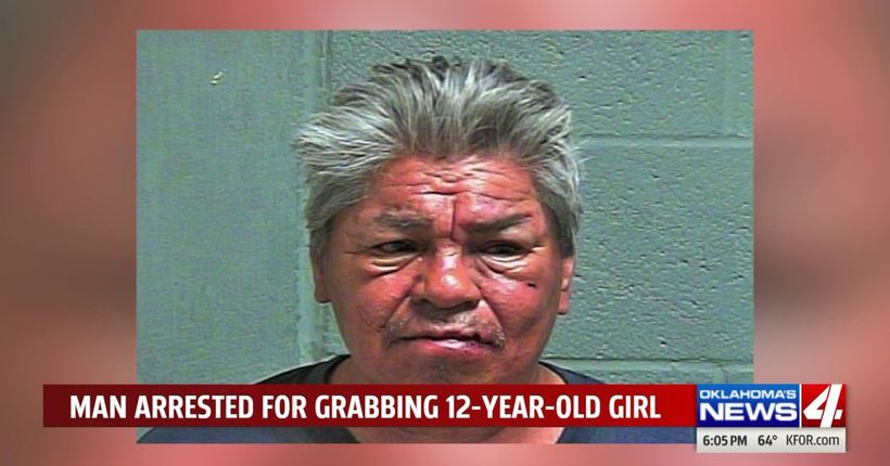 Oklahoma man arrested after allegedly grabbing 12-year-old, offering to exchange his cellphone for sex