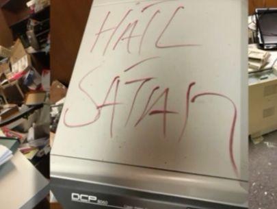 'Hail Satan' written inside church, building damaged