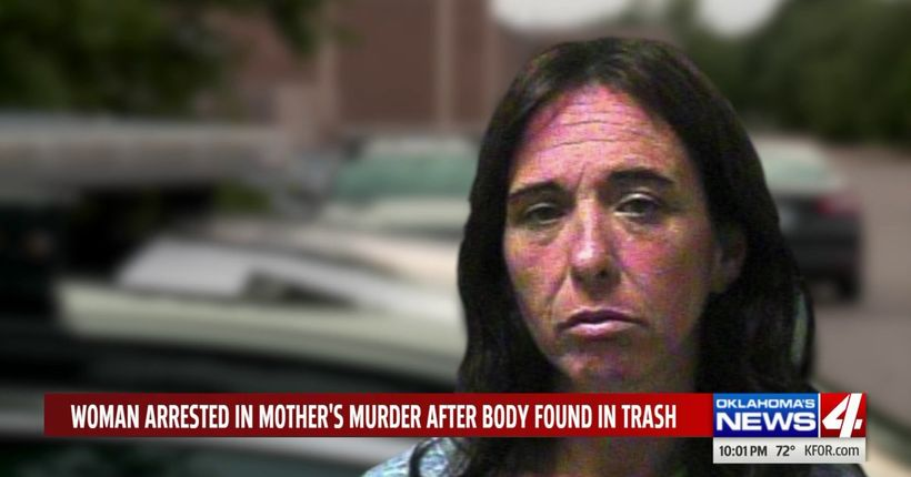 Daughter charged with murder after mother's body found in trash can