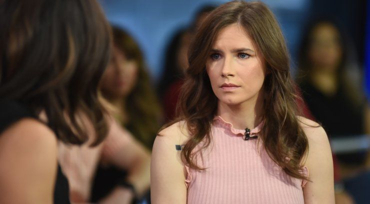 Acquitted Amanda Knox back in Italy for wrongful conviction talk
