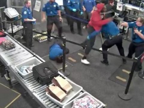 Authorities: Man injures 5 TSA agents while rushing through security