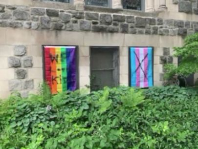 LGBT, transgender flags vandalized at Chicago church