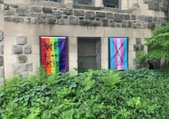 LGBT, transgender flags vandalized at Wicker Park church