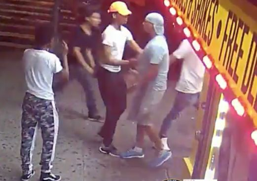 Man stabbed repeatedly in the back with glass bottle after stopping group attacking his dad in the Bronx