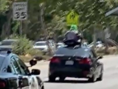 Police chase: Driver in clown mask with prop chain saw identified