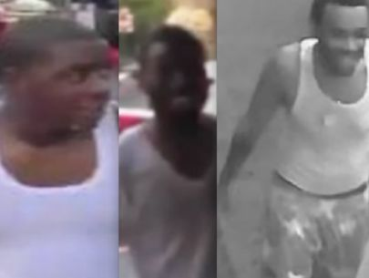 Photos: Men wanted in connection with throwing water at cops