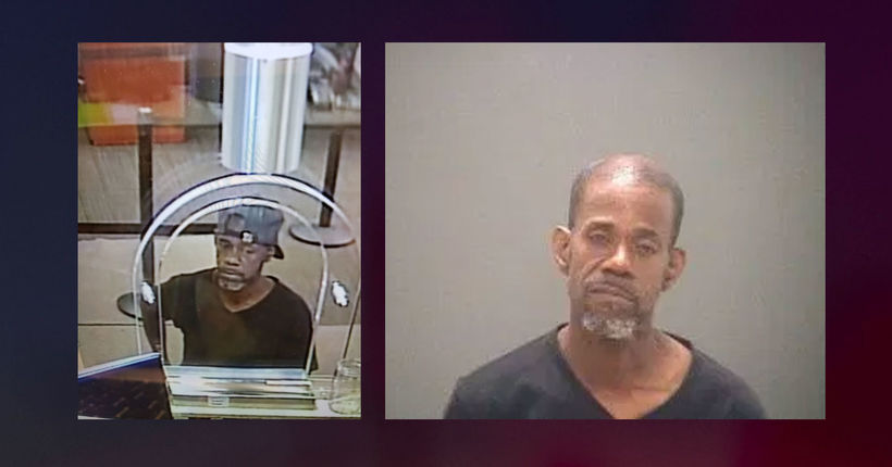 Bank robbery suspect who wrote demand note on DMV document arrested