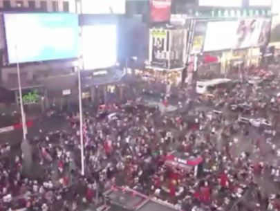 Motorcycle backfires, causes panic in Times Square; no gunshots
