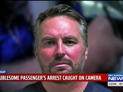 Body cam video shows arrest of passenger at OKC airport