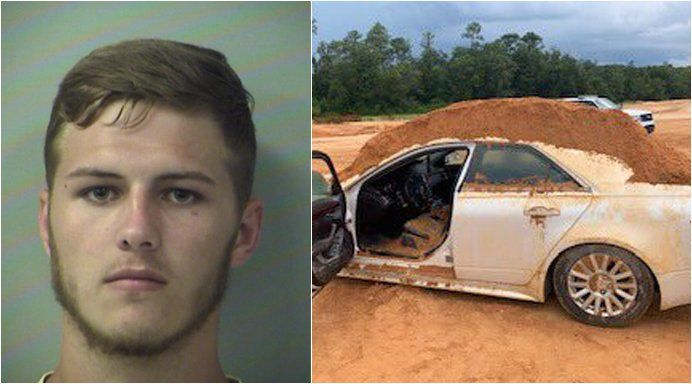 Florida man accused of dumping dirt on car girlfriend was driving after she refused to speak to him