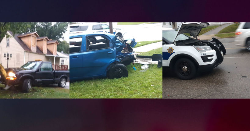 2 kids killed, 9 people injured in stolen police cruiser crash outside Ohio library